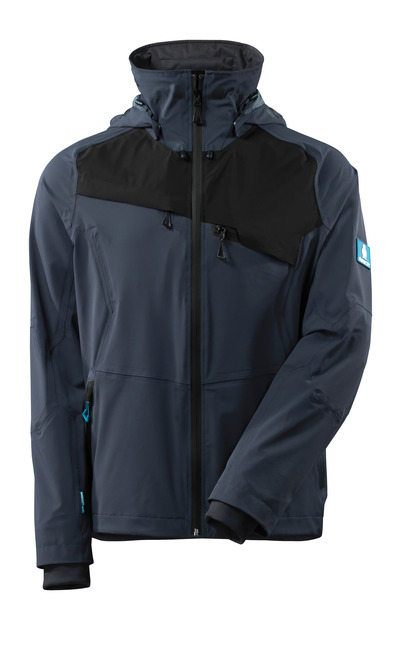 MASCOT® ADVANCED - blu navy scuro/nero - Giacca, stretch multi-direzionali, impermeabile, leggera