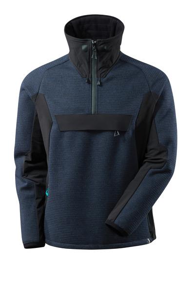 MASCOT® ADVANCED - blu navy scuro/nero - Giacca in maglia con mezza cerniera e membrana