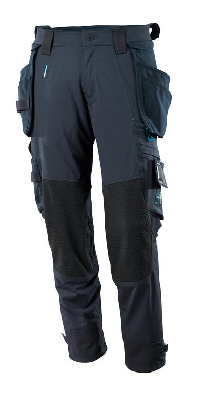 MASCOT® ADVANCED - blu navy scuro - Pantaloni con tasche porta-ginocchiere in Dyneema® e tasche esterne staccabili, stretch multi-direzionali, leggeri