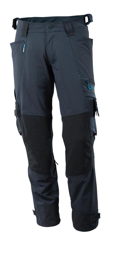 MASCOT® ADVANCED - blu navy scuro - Pantaloni con tasche porta-ginocchiere in Dyneema®, stretch multi-direzionali, leggeri