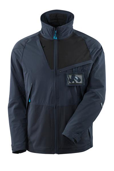 MASCOT® ADVANCED - blu navy scuro/nero - Giacca in stretch a 4-vie, leggera