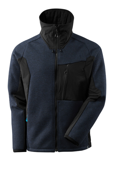 MASCOT® ADVANCED - blu navy scuro/nero - Giacca in maglia con membrana