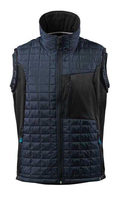 MASCOT® ADVANCED - blu navy scuro/nero - Gilet antifreddo con CLIMASCOT®, peso ridotto, idrorepellente