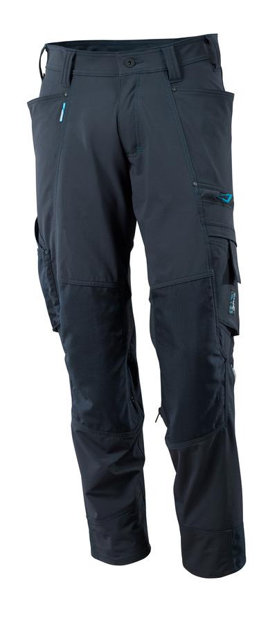 MASCOT® ADVANCED - blu navy scuro - Pantaloni con tasche porta-ginocchiere in CORDURA®, stretch multi-direzionali, leggeri