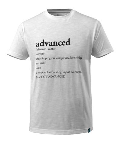 MASCOT® ADVANCED - bianco - Maglietta con testo ADVANCED, outfit moderno