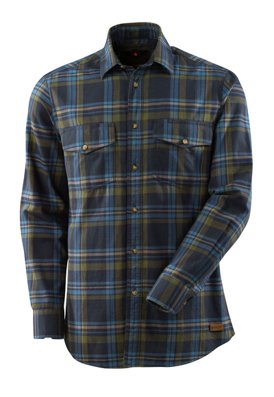 MASCOT® ADVANCED - blu navy scuro/blu mare - Camicia con flanella plaid.