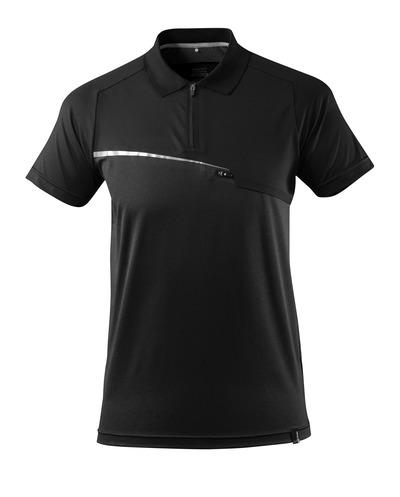 MASCOT® ADVANCED - nero - Polo tecnica con tasca sul petto, traspirante e capace di gestire l'umidità, fit moderno