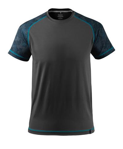 MASCOT® ADVANCED - nero - T-shirt tecnica, traspirante e capace di gestire l'umidità, fit moderno