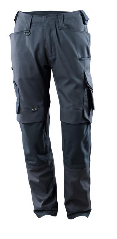 MASCOT® Adra - blu navy scuro - Pantaloni con tasche porta-ginocchiere in CORDURA®, inserti in tessuto stretch, alta resistenza all'usura