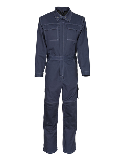 MASCOT® Akron - blu navy scuro - Tuta da lavoro con tasche porta-ginocchiere, peso ridotto