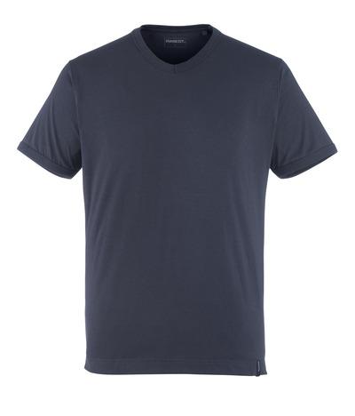 MASCOT® Algoso - blu navy scuro - Maglietta, mini scollo a V, outfit moderno