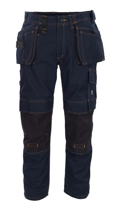 MASCOT® Almada - blu navy scuro - Pantaloni con tasche porta-ginocchiere in CORDURA® e tasche esterne, alta resistenza all'usura