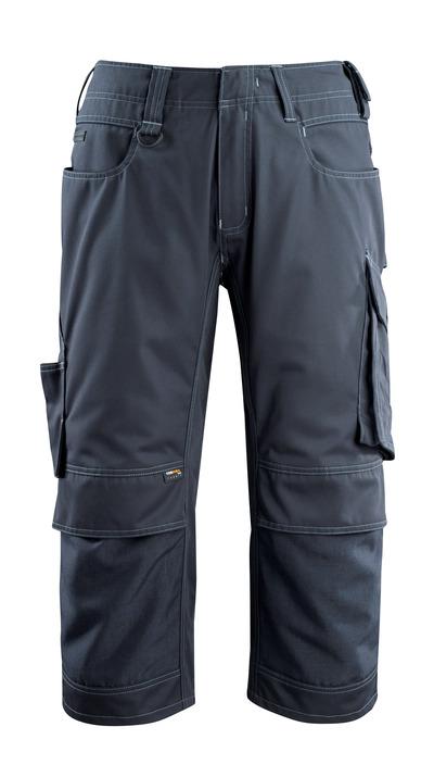 MASCOT® Altona - blu navy scuro - Pantaloni a ¾ con tasche porta-ginocchiere in CORDURA®, peso ridotto