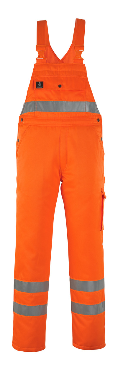MASCOT® Antarktis - arancio hi-vis* - Salopette antifreddo con fodera trapuntata, idrorepellente, classe 2/2