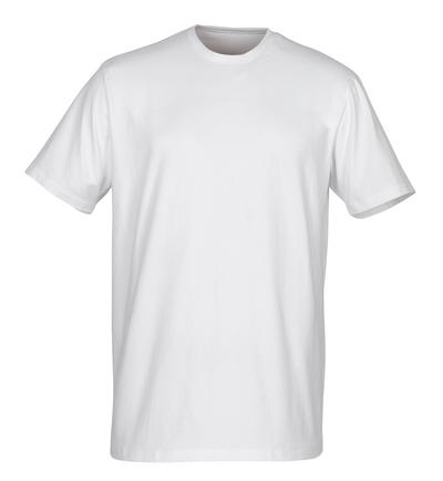 MASCOT® Argana - bianco - Sottomaglia a maniche corte con mini scollo a V, outfit moderno