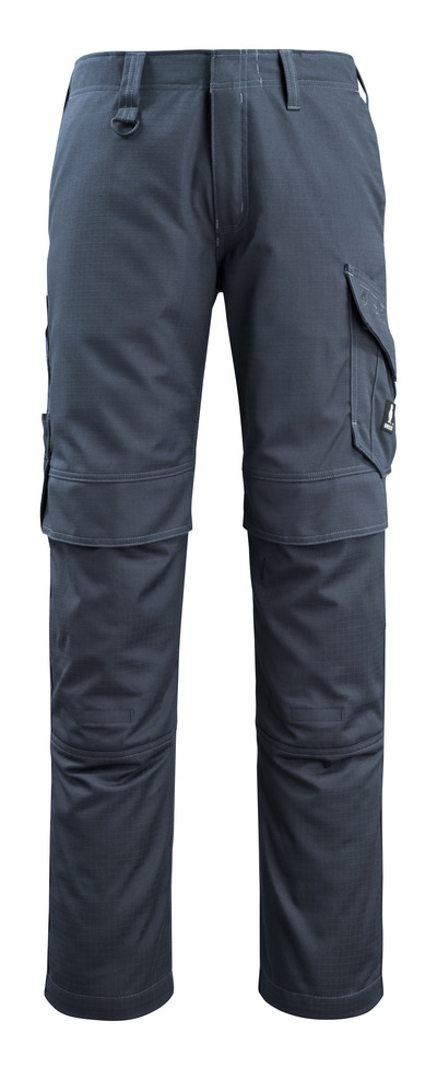 MASCOT® Arosa - blu navy scuro - Pantaloni con tasche porta-ginocchiere, repellente dello sporco, multiprotezione