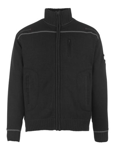 MASCOT® Arta - nero - Maglione con chiusura lampo, outfit moderno