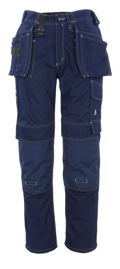 MASCOT® Atlanta - blu navy - Pantaloni con tasche porta-ginocchiere e tasche esterne in CORDURA®, cotone