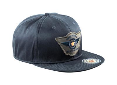 MASCOT® Bayville - blu navy scuro - Cappello con fori di ventilazione, regolabili, con ricamo