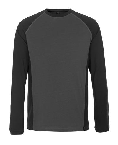 MASCOT® Bielefeld - antracite scuro/nero - Maglietta, a maniche lunghe