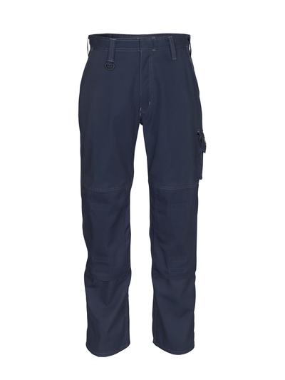 MASCOT® Biloxi - blu navy scuro - Pantaloni con tasche porta-ginocchiere, cotone