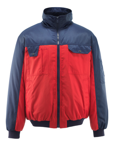 MASCOT® Bolzano - rosso/blu navy - Giacca da pilota con fodera in pile, idrorepellente Bearnylon®