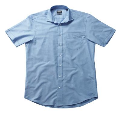 MASCOT® CROSSOVER - blu chiaro - Camicia Oxford, taglio classico, a manica corta.
