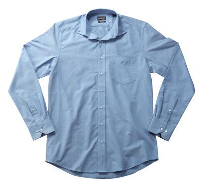 MASCOT® CROSSOVER - blu chiaro - Camicia Oxford, taglio moderno, a manica lunga.