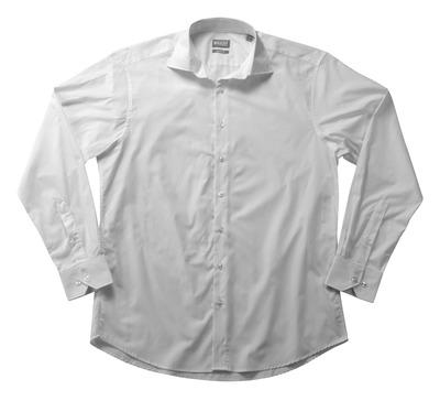 MASCOT® CROSSOVER - bianco - Camicia Popeline, taglio classico, a manica lunga.