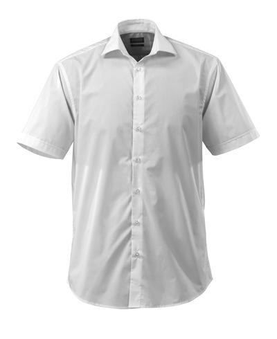 MASCOT® CROSSOVER - bianco - Camicia, a maniche corte, popline, taglio classico
