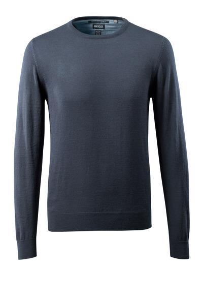 MASCOT® CROSSOVER - blu navy scuro - Maglione di Lana scollo tondo, con lana Merinos.