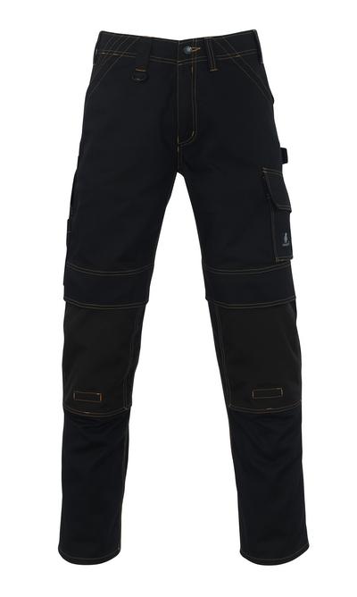 MASCOT® Calvos - nero - Pantaloni con tasche porta-ginocchiere in CORDURA®, alta resistenza all'usura
