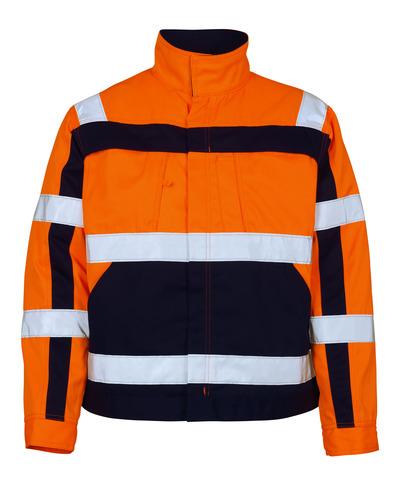 MASCOT® Cameta - arancio hi-vis/blu navy - Giacca, alta resistenza all'usura, classe 2