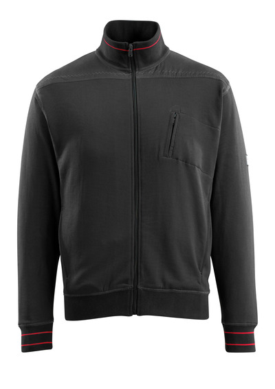 MASCOT® Chania - nero - Felpa con chiusura lampo, outfit moderno