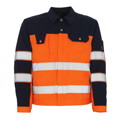 MASCOT® Como - arancio hi-vis/blu navy* - Giacca, alta resistenza all'usura, classe 2/2