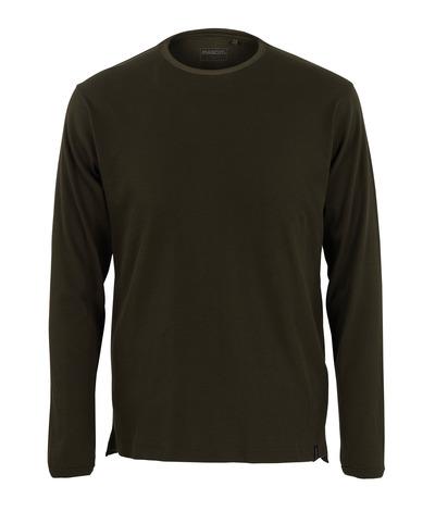 MASCOT® Crato - verde oliva scuro* - Maglietta, a maniche lunghe