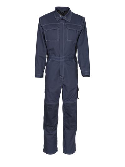 MASCOT® Danville - blu navy scuro - Tuta da lavoro con tasche porta-ginocchiere, cotone