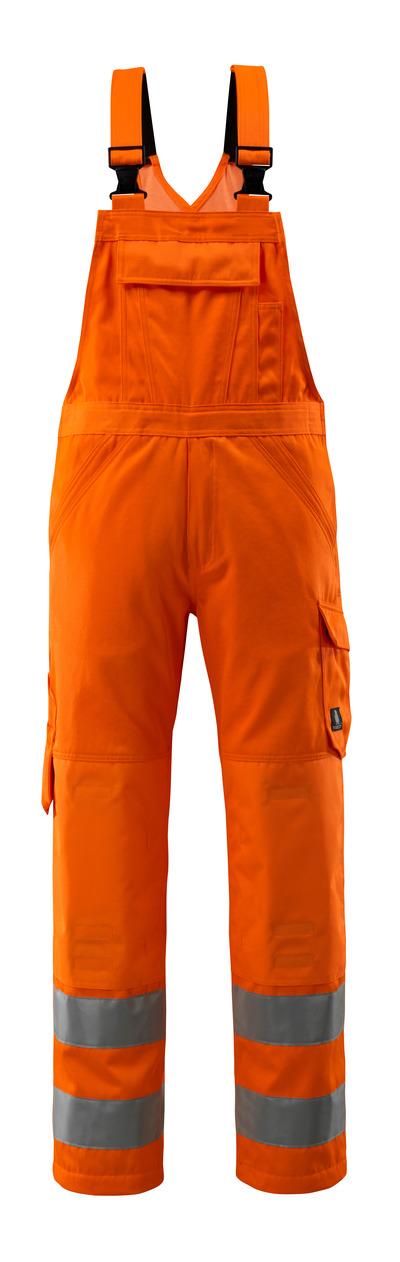 MASCOT® Devonport - arancio hi-vis - Pettorina con tasche portaginocchiere, monocolore, classe 2.