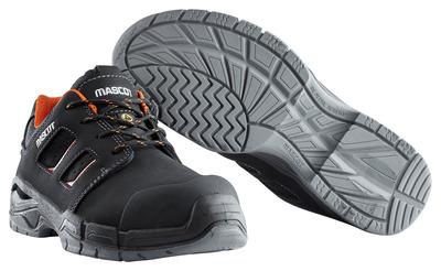 MASCOT® Diran - nero/arancio scuro - Scarpa antinfortunio S3 con lacci