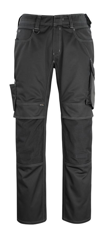 MASCOT® Erlangen - nero/antracite scuro - Pantaloni con tasche porta-ginocchiere in CORDURA®, alta resistenza all'usura