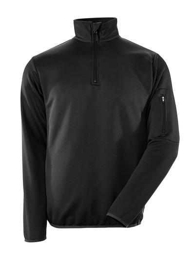 MASCOT® Estela - nero/antracite scuro - Polo Felpata con chiusura lampo, outfit moderno, traspirante