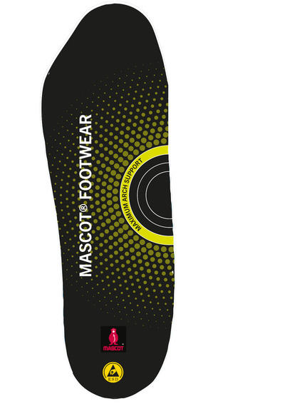 MASCOT® FOOTWEAR - nero - Solette ammortizzanti, supporto massimo dell'arco plantare