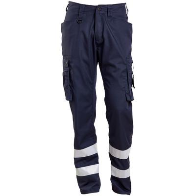 MASCOT® FRONTLINE - blu navy scuro - Pantaloni con tasche sulle cosce, con bande catarifrangenti, peso ultraridotto