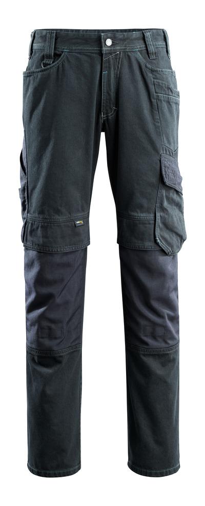 MASCOT® Ferrol - blu scuro denim - Jeans con tasche porta-ginocchiere, estrema resistenza