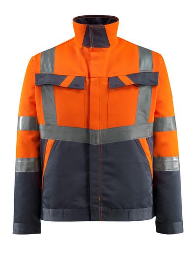 MASCOT® Forster - arancio hi-vis/blu navy scuro - Giacca, peso ridotto, classe 2