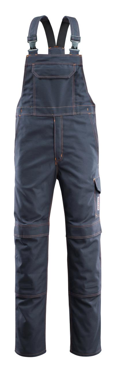 MASCOT® Freibourg - blu navy scuro - Salopette con tasche porta-ginocchiere, multiprotezione