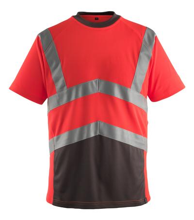 MASCOT® Gandra - rosso hi-vis/antracite scuro* - Maglietta, outfit moderno, classe 2