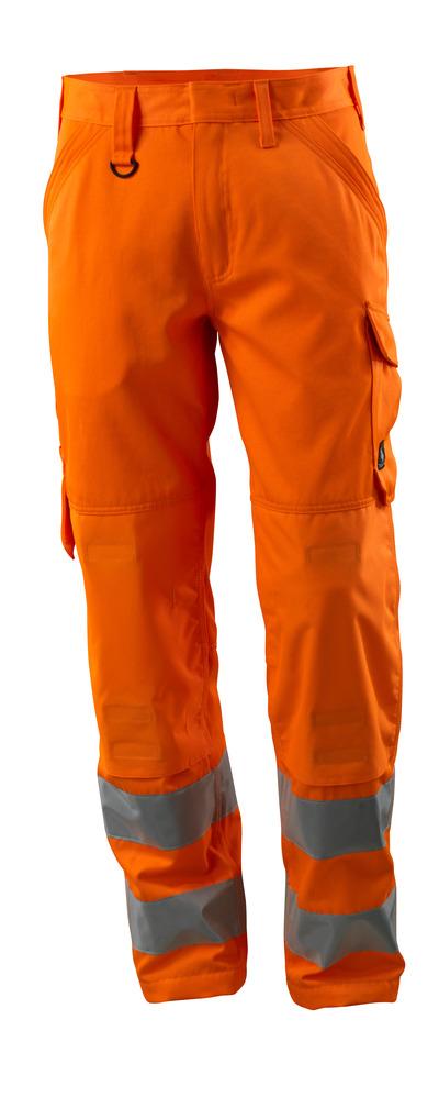 MASCOT® Geraldton - arancio hi-vis - Pantaloni con tasche portaginocchiere, monocolore, classe 2.