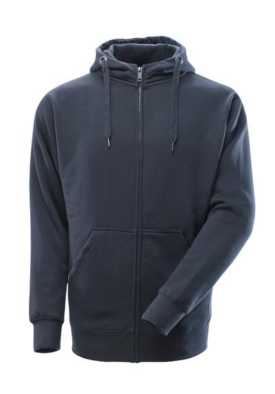 MASCOT® Gimont - blu navy scuro - Felpa con cappuccio e cerniera, outfit moderno