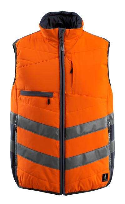 MASCOT® Grimsby - arancio hi-vis/blu navy scuro - Gilet, con imbottitura, idrorepellente, classe 1